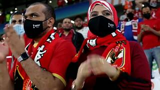 Visually impaired fan enjoys Al Ahly match