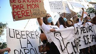 Manifestation contre l'inceste et les violences sexuelles sur mineur à Ajaccio, le 5 juillet 2020.
