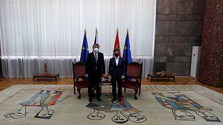 رئيسة وزراء صربيا آنا برنابتيش ورئيس وزراء  جمهورية التشيك أندريه بابيس / بلغراد/10 فبراير- 2021