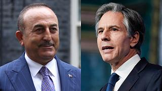 Türkiye Dışişleri Bakanı Mevlüt Çavuşoğlu ve ABD Dışişleri Bakanı Antony Blinken