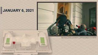 Képkocka a Capitolium ostromát rögzítő videók egyikéből