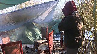 Ein wildes Camp in der Nähe vo´n Calais