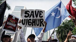 Uygurlara destek protestosu