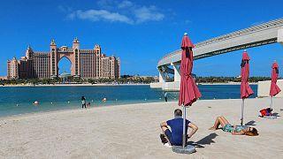 Dubai'de plaj