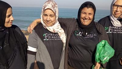 The social enterprise helps to fund an NGO in Morocco that is empowers women.