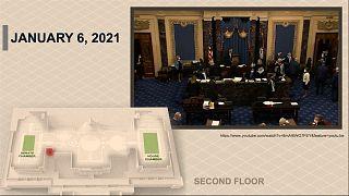 Senate on January 6 as it is being evacuated