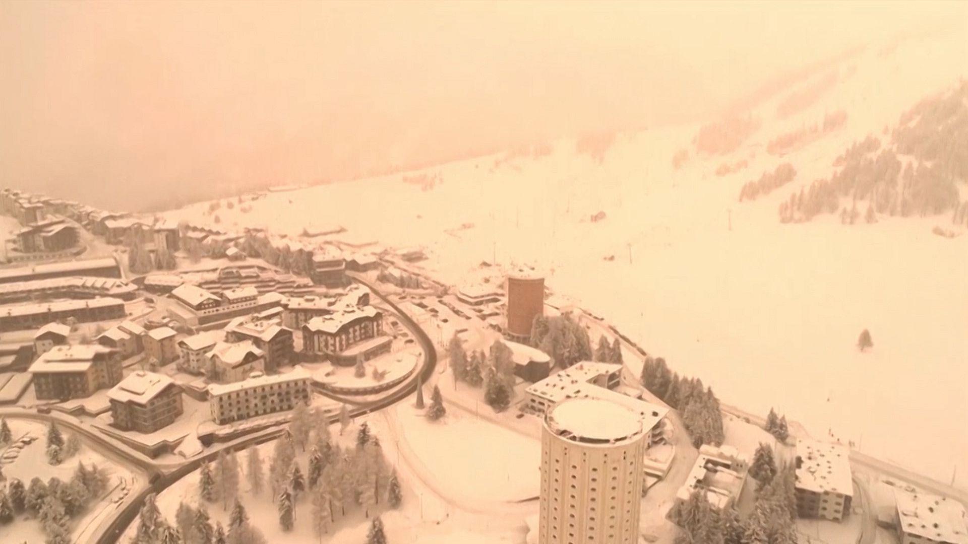 Image result for italian alpine villages red sand