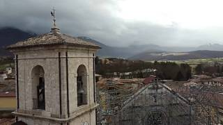 The Basilica of St. Benedict in Norcia, central Italy