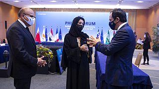 Οι υπουργοί Εξωτερικών του Μπαχρέιν, των ΗΑΕ και της Κύπρου
