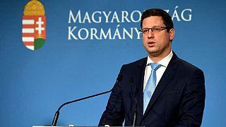 A Miniszterelnökséget vezető miniszter, Gulyás Gergely a kormányzati tájékoztatón