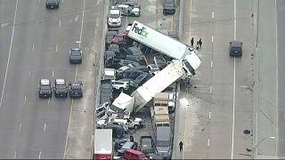 مقتل 5 أشخاص وإصابة العشرات في حادث مروري بولاية تكساس الأمريكية ـ 11 شباط/فبراير 2021