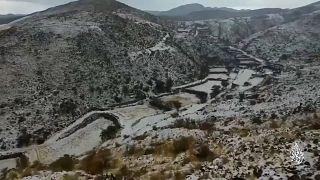 مجتزأ من فيديو لثلوج في منطقة أبها السعودية