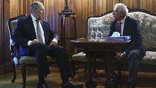 Archives : Sergueï Lavrov, le ministre russe des Affaires étrangères, et Josep Borrell, le chef de la diplomatie de l'UE, le 5 février à Moscou