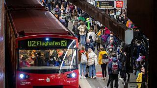 Nürnbergi metróállomás 2020. október 23-án