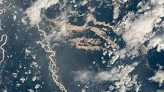 Peru keleti része a Nemzetközi Űrállomásról fényképezve