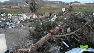 The tornado struck the resort town of Cesme late on Thursday.