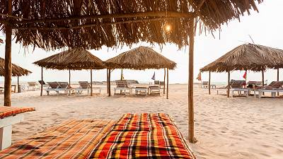 Goa has several popular beaches that could allow you to work with a view of the waves.