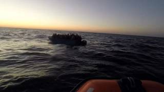 Watch: On board with Open Arms rescue ship as 40 migrants are saved in Mediterranean