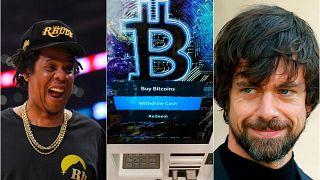 Rap sanatçısı Jay Z (solda), Twitter CEO'su Jack Dorsey (sağda)