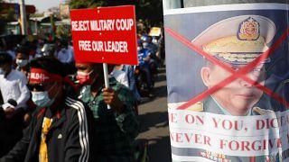 Continuam os protestos em Myanmar