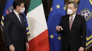 İtalya'da görev devir teslimi: Yeni Başbakan Mario Draghi