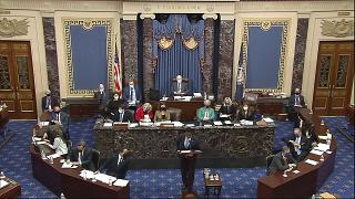 Closing arguments in the second impeachment trial of former President Donald Trump in the Senate at the U.S. Capitol in Washington, Saturday, Feb. 13, 2021.
