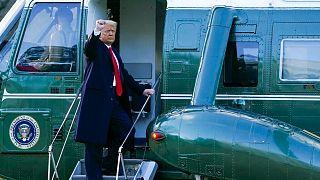 دونالد ترامپ در روز ترک قدرت