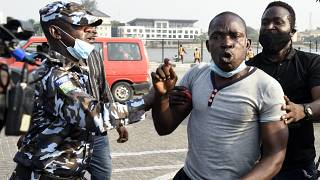 'We want justice': Nigerians protest at Lekki shooting site
