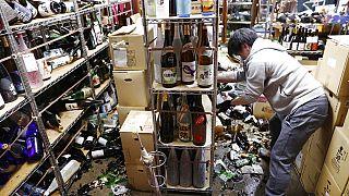 Japonya'daki deprem sonrası maddi hasar tespit çalışmaları sürüyor.