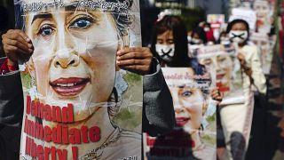 População e ONU exigem libertação dos presos políticos em Myanmar