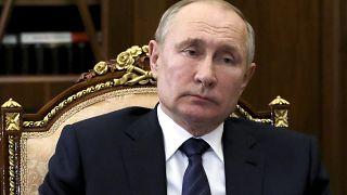الرئيس الروسي فلاديمير بوتين في قصر الكرملين