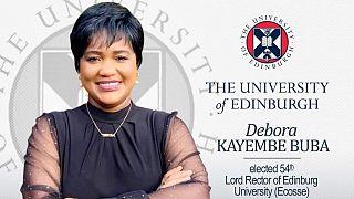 Demokratik Kongolu Debora Kayembe, Edinburgh Üniversitesi rektörü seçildi.