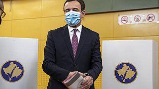 Albin Kurti bei der Wahl an diesem Sonntag