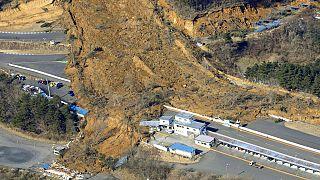 Nihonmatsu in der Provinz Fukushima - nach dem Erdbeben