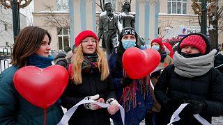 متظاهرات روسيات في موسكو
