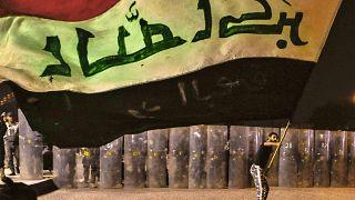 من مظاهرة ضد السلطة في البصرة العراقية في تشرين الثاني/نوفمبر 2020