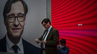 Salvador Illa, candidato socialista,para presidir la Generalitat de Cataluña