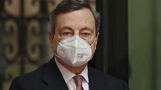 El primer ministro italiano, Mario Draghi, a su llegada al Palacio Chigi el pasado sábado.