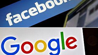 شعار موقع فيسبوك وغوغل