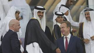 تصویری از جیانی اینفانتینو رییس فیفا در قطر