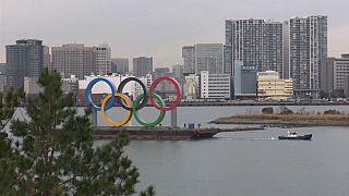 Олимпийские кольца. Токио, Япония