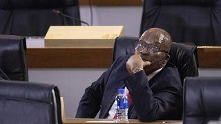 Jacob Zuma a vizsgálóbizottság tavaly novemberi meghallgatásán Johannesburgban