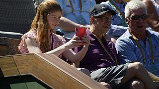 Jennifer Gates mit ihrem Vater bei einem Tennis-Turnier 2019