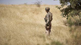 Barkhane Operasyonu'nda bir Fransız asker