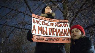 Манифестация против домашнего насилия в Москве