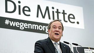 Armin Laschet, CDU-Vorsitzender, während einer Pressekonferenz in Berlin, 25.01.2021