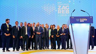 Csoportkép az Európai Néppárt (EPP) zágrábi kongresszusán
