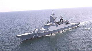 ورود یک شناور نظامی روسیه به آبهای ایران برای شرکت در زمایش دریایی