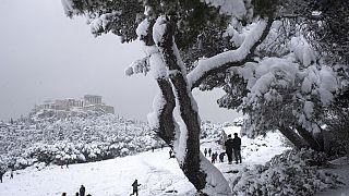 No comment από την χιονισμένη Αθήνα