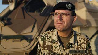 صورة من الارشيف -  القائد العسكري الألماني في أفغانستان العقيد جورج كلاين